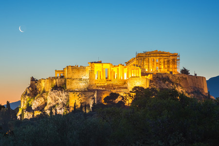 Parthenon, Acropolis of Athens, Greece at summer sunrise Stock Photo - 101921579