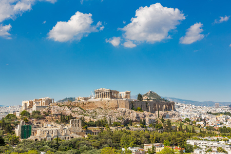 Parthenon, Acropolis of Athens, Greece at summer day Banque d'images