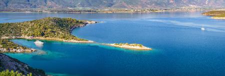 Small island in Aegean sea, Greece Stok Fotoğraf