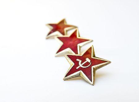 Communistic red stars