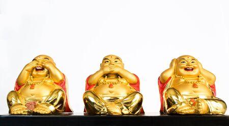 male likeness: Buda no ver, no o�r y no hablar Foto de archivo