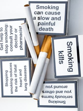 Messages of  warning about  one bad habit. photo