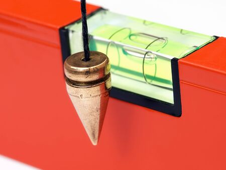 precise: Precise instruments for measuring in  masonry and construction. Stock Photo