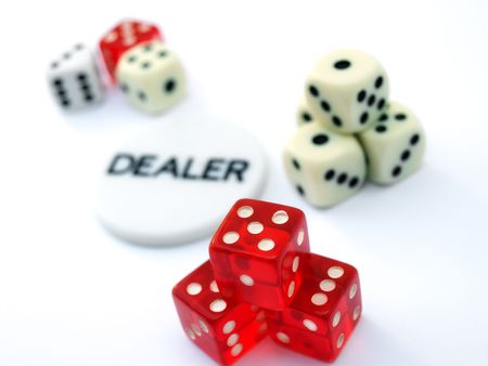 Conceptual images about  gambling, casino and games of chance. Stock Photo - 5053338