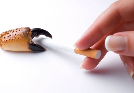 Metaphor about the risk of getting lung cancer due to bad habits such as smoking. Stock Photo - 5569540
