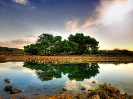 Landscape in HDR technique, with calm water and reflection on it. Stock Photo - 5934682