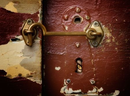 Watching through a keyhole from the other side of the door. Stock Photo - 6014937