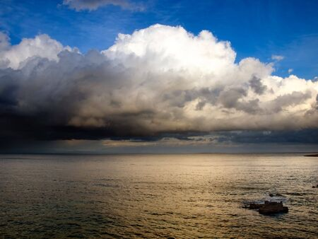 View of the open sea after the storm... photo