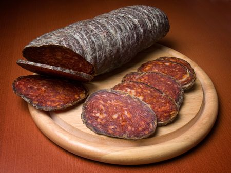 flavoured: Kulen is a type of flavoured sausage made of minced pork that is traditionally produced in Croatia.