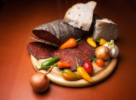 Kulen is a type of flavoured sausage made of minced pork that is traditionally produced in Croatia. photo