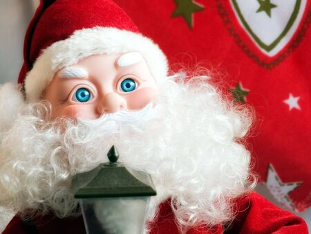 poppet: Portrait of Santa Claus with cyan blue eyes...