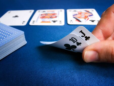 hold'em: Detail from card games luch as poker texas holdem.