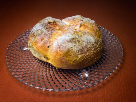 good wishes: Pinca is a traditional Croatian or Dalmatian Easter Bread which is given to guests as a symbol of good wishes.