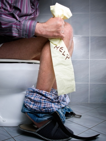 Conceptual view of digestive problems like constipation or diarrhea. Stock Photo - 6991950