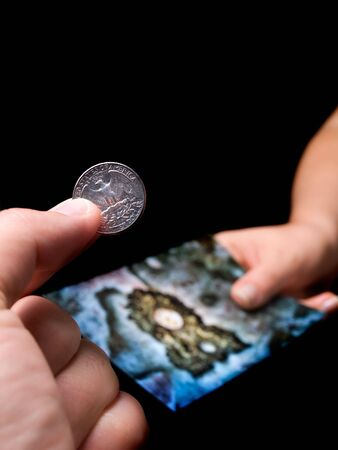 microstock: Conceptual image about microstock photography, also known as micropayment photography.