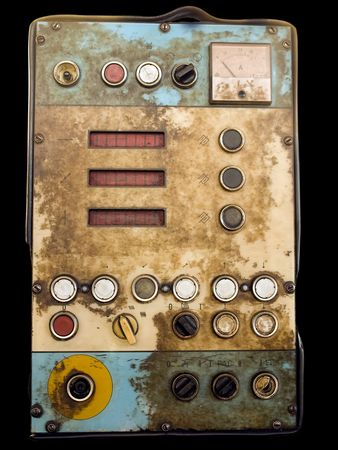 Retro control panel for devices , tools or machinery in an old factory Stock Photo - 7298070