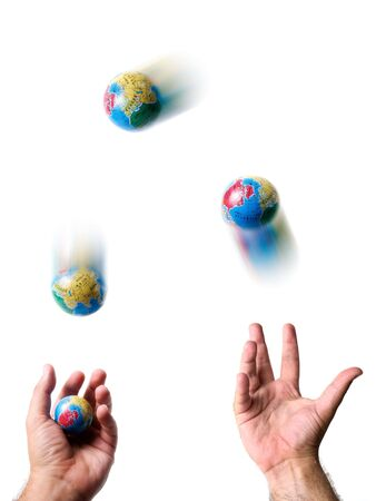 juggling: Conceptual image about