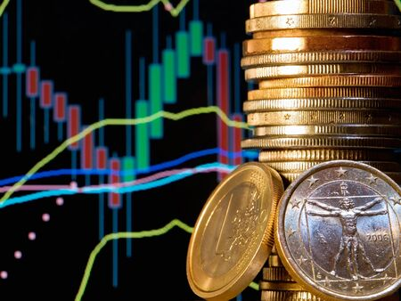 Conceptual view of the foreign exchange market known as forex. Stockfoto