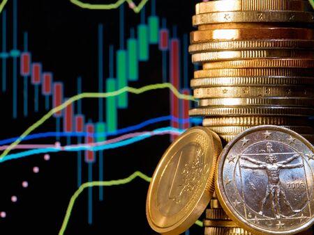 apalancamiento: Vista conceptual del mercado de divisas, conocido como forex.  Foto de archivo