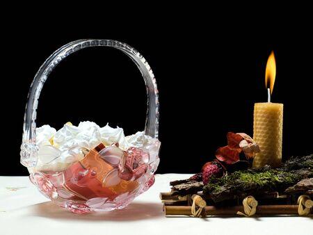 festive occasions: Decoraciones de tabla usuales en ocasiones festivas especiales... Foto de archivo