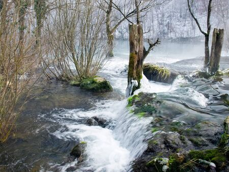 Waterfalls on a small mountain river called  Mreznica, Croatia. Stock Photo - 8538736