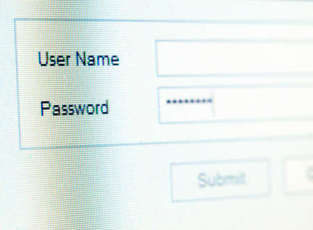 Closeup of login tabs on the computer monitor... Stock Photo - 8865867