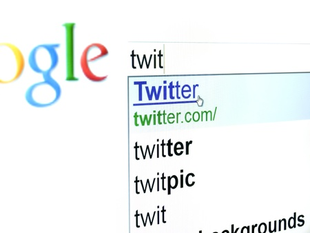 search results: Rijeka, Croatia - May 19, 2011: New user is trying to find Twitter website by the Google search engine ... Twitter is very popular on-line social network in Croatia... Editorial