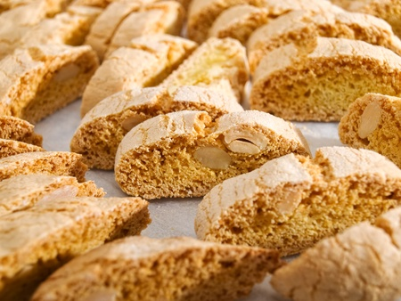 Dry Cantuccini cookies characteristic for Christmas holidays.