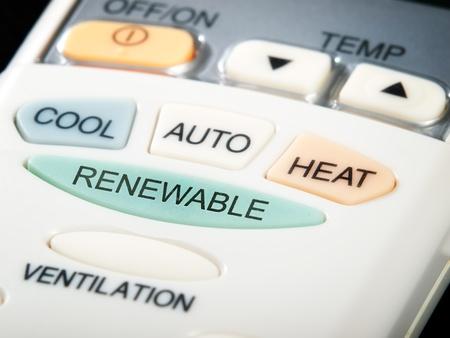 aire acondicionado: Botón de renovables como una opción en el control remoto de aire acondicionado ...