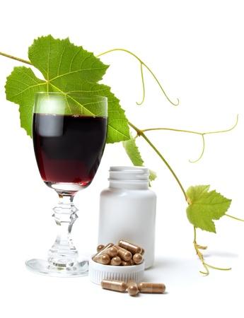 Resveratrol är en kraftfull antioxidant som utvunnits ur druvor Stockfoto