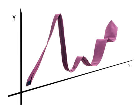 represented: Conceptual view of a business graph represented with a tie