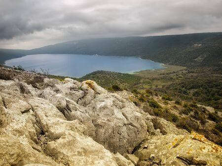 phenomena: Beautiful view of the natural phenomena such as the Vrana Lake on Cres, Croatia.