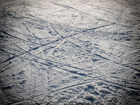ski traces: Lot of ski traces on the ski slopes