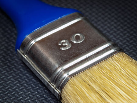 brocha de pintura: Vista de cerca de un pincel.