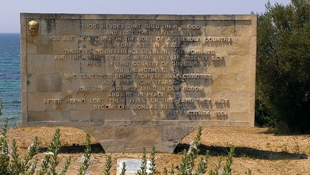 Memorial at Anzac Cove, Gallipoli Peninsula
