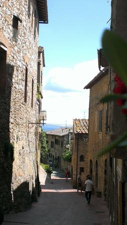 Streets of San Gimignano, Italy