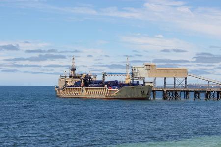 Accolade 11 docked near Stansbury