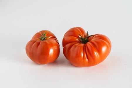 heirloom tomatoes on white
