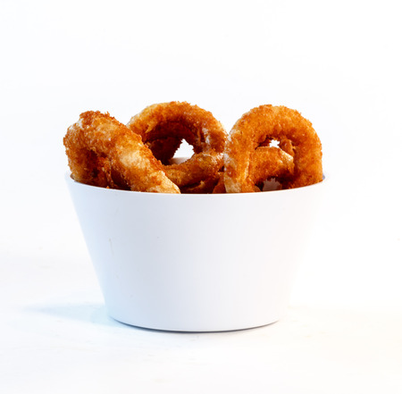 serving of onion rings in bowl