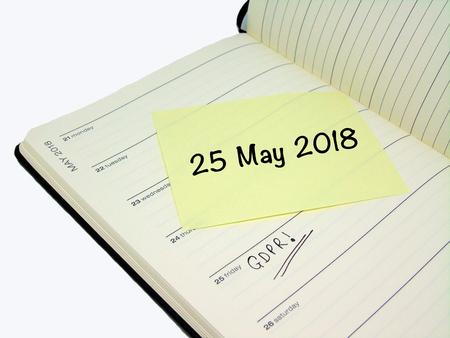 일반 데이터 보호 규정 (GDPR) - 2018 년 5 월 25 일