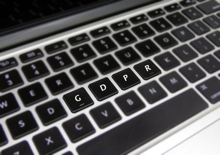 General Data Protection Regulation (GDPR) Laptop Keyboard