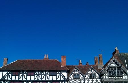 Elizabethan Tudor Style House Rooftops, England
