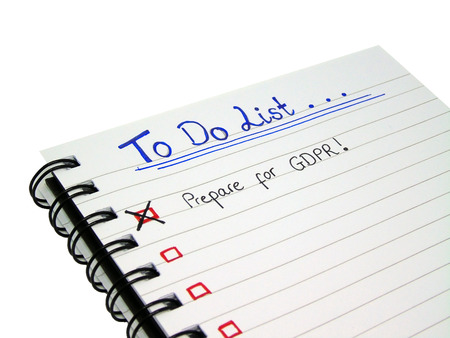 To Do List - Prepare for General Data Protection Regulation (GDPR), Isolated on White Background with Clipping Path 版權商用圖片