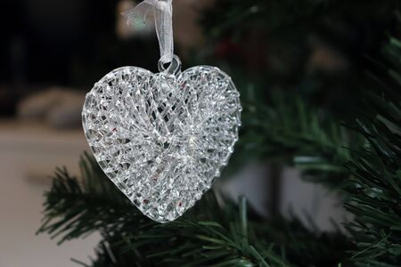 Glass Heart. Christmas Tree Decoration