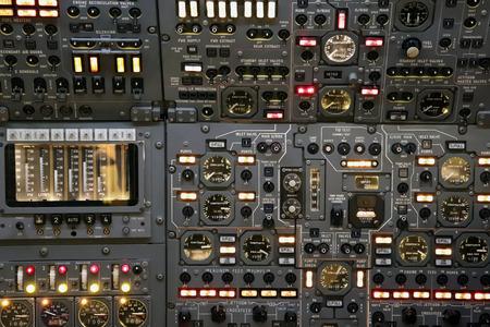 Airplane Cockpit SwitchboardControl Panel 版權商用圖片