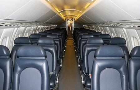 RetroOld Airplane Interior Cabin Imagens