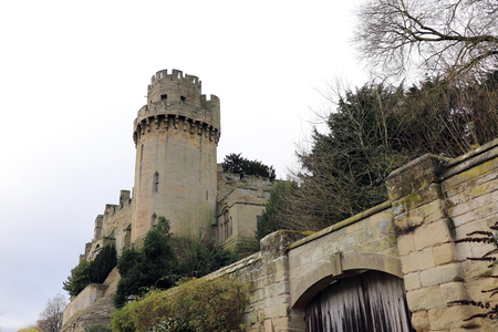 Landscape Scene with Warwick Castle Tower in the Background