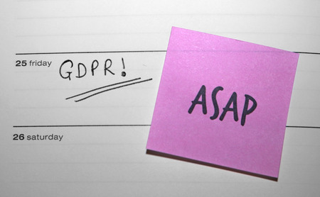 ASAP Sticky Note Reminder for the General Data Protection Regulation (GDPR) - Friday 25 May 2018