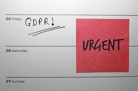 General Data Protection Regulation (GDPR) Diary Urgent Reminder