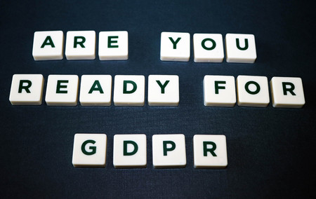 Are You Ready for General Data Protection Regulation (GDPR) Board Game Tiles Imagens